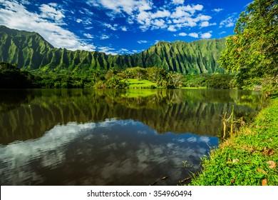 Ho'omaluhia Botanical Garden on Oahu