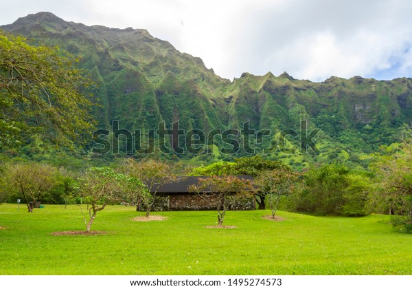 Hoomaluhia Botanical Gardens Hawaii Stock Photo Edit Now 1495274573
