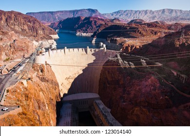 Hoover Dam across the Border of Nevada and Arizona
