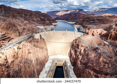 Hoover Dam, aerial view