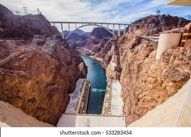 The Hoover dam & The Hoover Bridge Nevada,USA