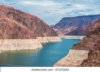 Hoover dam and Lake Mead in Las Vegas area
