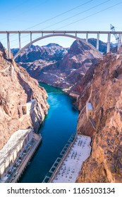 hoover dam on sunny day,Nevada,usa.