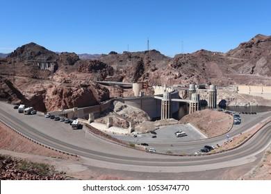 Hoover Dam View near Boulder City Nevada