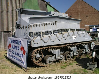 Hop farm, UK - July.23.2006: US Sherman BARV (Beach Armoured Recovery Vehicle) Sea Lion at the war and peace show