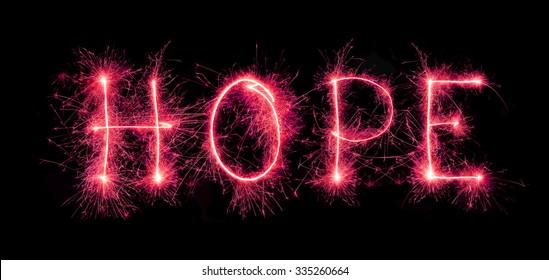 """hope"" message from sparkler"