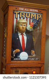 Hope to Nope at the Design Museum, London , UK - June 26th 2018 - The all seeing Trump