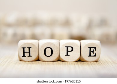 Hope word concept
