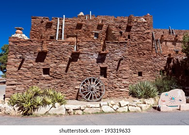 Hopi house in Grand Canyon Nation Park. Originally built in 1905 as quarters and place to sell souvenir and crafts from Hopi artisans.