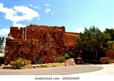 Hopi House on the South Rim of the Grand Canyon, within Grand Canyon National Park in the U.S. state of Arizona