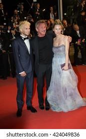 Hopper Penn, Sean Penn, Dylan Penn  attends 'The Last Face'  Premiere at the 69th Festival de Cannes.May 20, 2016  Cannes, France