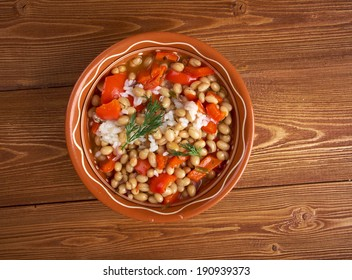 Hoppin' John is a peas and rice dish served in the Southern United States