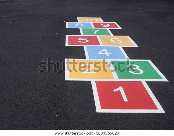 Hopscotch at a Playground