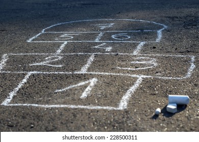 Hopscotch - popular street game/ Hopscotch