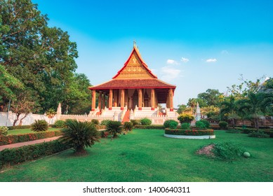 Hor Pha keo (Haw Pha Kaew) Museum in Vientiane, Laos. Religious architecture and landmarks, Famous tourist destination in Asia. Laos landmark and travel.