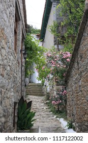HORA the capital of samothraki island. Greece June 2018 year