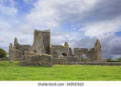 Hore Abbey. Historic Landmark located in the city Ballyfowloo. Ireland.
