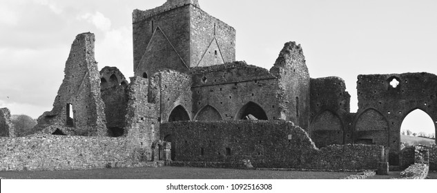 Hore Abbey, old ruined Irish cathedral near Rock of Cashel in Ireland
