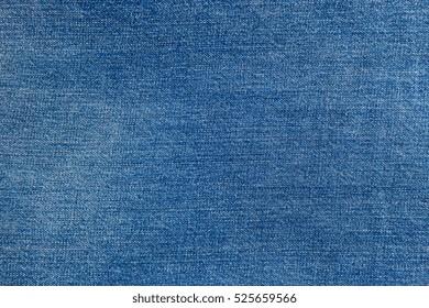 horisontal bright blue jeans texture. denim fabric background