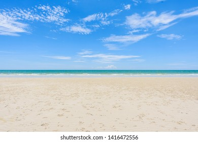 Horizon of the beach and beautiful summer sea landscape with blue sky on background.