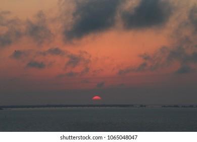 Horizon on the Setting Sun