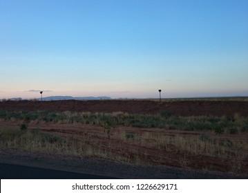 The Horizon of The Sudanese City El Fasher in North Darfur Desert During Rain Season