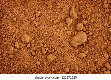 horizontal background of clay soil