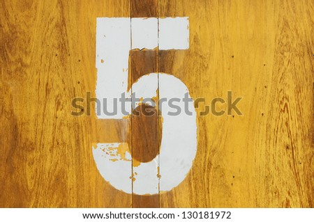Horizontal Background yellow wood pine with a number seven