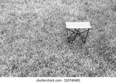 Horizontal black and white travel chair background
