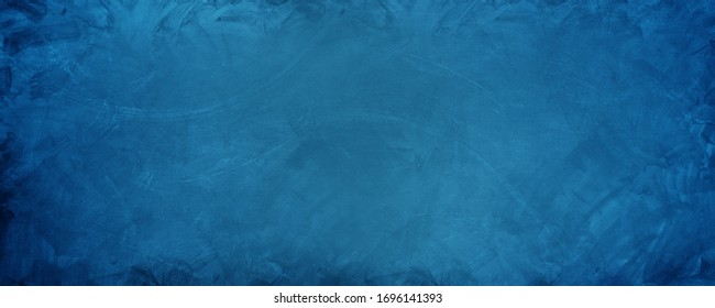 horizontal blue cement wall backdrop and background