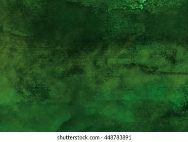 horizontal dark green watercolor background