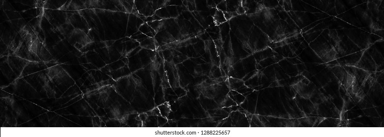 horizontal elegant black natural marble for pattern and background.