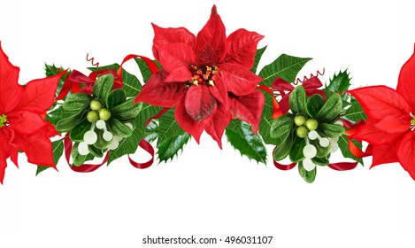 poinsettia border horizontal