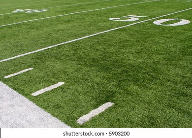horizontal image of 50-yard line