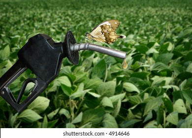 horizontal image of gas nozzle with butterfly
