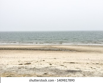 A horizontal image of the ocean from a beach in Nantucket, Massachusetts.