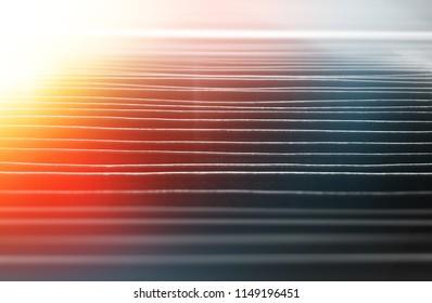 Horizontal lines with dramatic light leak backdrop