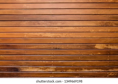 Horizontal long wood plank background with head light