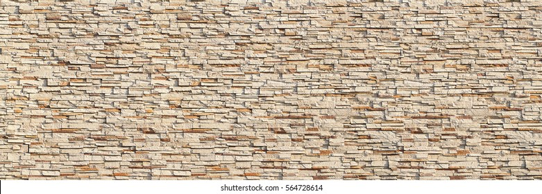 it is horizontal modern brick wall for pattern and background.