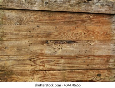 Horizontal old wood boards
