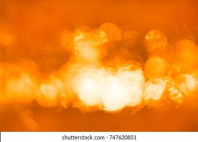 Horizontal orange bokeh background hd