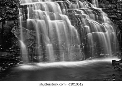 Horizontal photo of cascade at Black River Falls, West Virginia