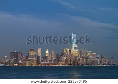 Horizontal Photo Freedom Tower New York Stockfoto Jetzt Bearbeiten
