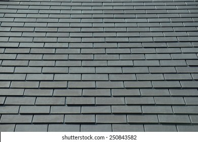 horizontal picture of slates on a roof
