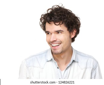 Horizontal portrait of a handsome young man smiling