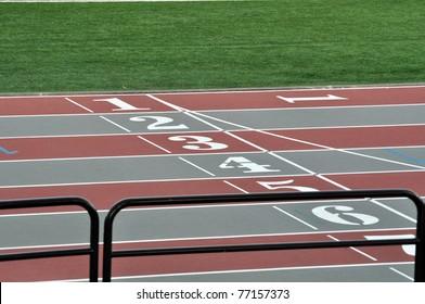 Horizontal racetrack background