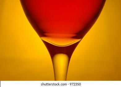 horizontal red wine glass