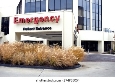 Horizontal Shot Of Emergency Room