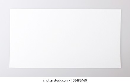 horizontal single white sheet of paper