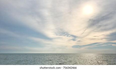 Horizontal Skyline near the seaside